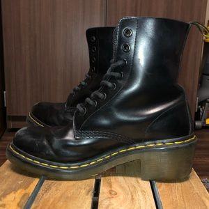 Dr. Martens Black Clemency Heeled Boot